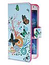 Na Samsung Galaxy Etui Etui na karty / Z podpórką / Flip / Wzór Kılıf Futerał Kılıf Motyl Skóra PU Samsung S4