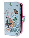 Kwiaty i wzór koła PU skórzanym etui z podstawką i gniazdo kart dla Samsung Galaxy S3 I9300