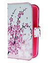 Mini Elegant Flower Pattern PU Skórzany pokrowiec z Magnetic Snap i gniazdo kart Samsung Galaxy Wielkiego duetów I9082