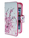 Mini Elegant Flower Pattern PU Skórzany pokrowiec z Magnetic Snap i gniazdo kart dla Samsung Galaxy S3 mini I8190