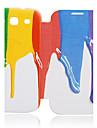 のために Samsung Galaxy ケース ケース カバー フリップ パターン フルボディー ケース カラーグラデーション PUレザー のために Samsung S3