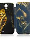 Poker Skull Leather Case do Samsung Galaxy S4 I9500