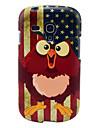 Vintage USA Flag Sowy Błyszczący TPU Miękka okładka Case do Samsung Galaxy S3 Mini I8190