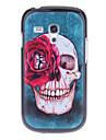 Red Rose wzór Skull Powrót Ciężka skrzynki pokrywa dla Samsung Galaxy S3 Mini I8190