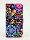 Wzór kolorowy meduza Skórzane etui z PU Magnetyczne i gniazdo kart dla Samsung Galaxy mini I9190 S4