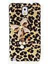 Bowknot Projektowanie Leopard Wzór Walizka z Rhinestone dla Samsung Galaxy Note 3 N9000