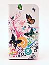 Kwiat piękny wzór motyla i skórzane etui z PU Magnetyczne i gniazdo kart dla Samsung Galaxy S3 I9300