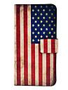 Wzór flagi USA vintage Skórzane etui z PU Magnetyczne i gniazdo kart dla Samsung Galaxy mini I9190 S4