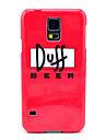 Duff Beer Wzór Ciężka pokrywa dla Samsung Galaxy S5 I9600