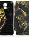 Na Samsung Galaxy Etui Etui Pokrowce Flip Wzór Futerał Kılıf Czaszka Skóra PU na Samsung S5