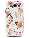 Piękne Rose Kwiat Wzór Mocno plecy skrzynki pokrywa dla Samsung Galaxy S3 I9300