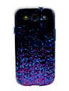Fioletowy Shining Cekiny Wzór TPU futerał Pokrywa Galaxy S3 I9300