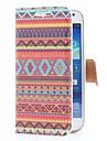 Aztec Tribal Style Skórzany pokrowiec z gniazda na kartę i Stand for Samsung Galaxy Mini i9190 S4