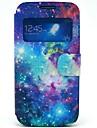 Leo Wzór Starry Sky PU Open Case Okno Skóra z gniazda na kartę i Stand for Samsung Galaxy S4 mini I9190