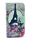 Rose Wieża Eiffla Wzór PU Leather Case z uchwytem karty i Stań do Samsung Galaxy Ace 2 I8160