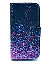Wzór diamentowy Fragment PU Sprawa z gniazda na kartę i Stand for Samsung Galaxy S4 mini I9190
