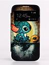 Auto uśpienia / Wake Up Cartoon Turtle Świetlik Projekt Skóra Pełna Sprawa Korpus Samsung Galaxy S4 I9500
