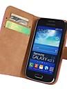 Skórzana Pełna Sprawa ciała z paskiem i naklejki Samsung Galaxy Ace S7270 S7272 S7275 3