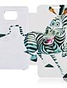 Cartoon Zebra Full Body Skórzane etui do Samsung Galaxy S2 I9100