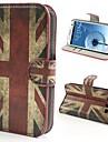 Kılıf Na Samsung Galaxy Samsung Galaxy Etui Portfel / Etui na karty / Z podpórką Pełne etui Flaga Skóra PU na S3