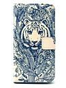 tatuaż tygrys zwierzęcy wzór PU Leather Case całego ciała z gniazda kart do Samsung Galaxy s5 i9600