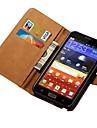 prawdziwe skórzane etui do Samsung Galaxy Note N7000 i9220 portfel stylu