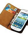 Portfel z prawdziwej skóry sprawa stojak na Samsung Galaxy trendu Duos s7562