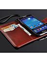 fashion® bardzo cienka klapka pu skórzane etui z gniazda karty dla Samsung s4 mini