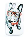 ciężka skrzynki pokrywa cienka wzór pies na okulary Samsung Galaxy s4 mini i9190