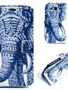 fajny tatuaż wzór słonia pu skóry skrzynki pokrywa z podstawką do Samsung Galaxy S3 i9300