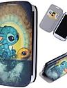 króliki cartoon wzór pełna przypadek ciała z podstawą pu skórzane etui do Samsung Galaxy S3 i9300