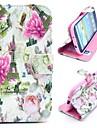kwiaty i Wieża Eiffla magnetyczny składany Folio stanąć krzyż wzór skórzane etui do Samsung Galaxy S3 i9300
