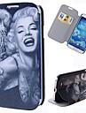 wzór kreskówka tatuaż Marilyn pełne przypadek ciała z podstawą pu skórzane etui do Samsung Galaxy s4 i9500