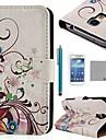 coco fun® rose jedwab wzór PU Leather Case z protecter ekranu i rysika do Samsung Galaxy s4 mini i9190