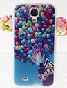 dom z drewna balony wzór przetłoczeń Case Powrót do Samsung Galaxy s4 i9500