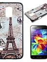mapy i Wieża Eiffla pc wzór twarde etui do Samsung Galaxy S5 mini g800