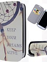 Dream Catcher zachować wzór PU skóra pełni sprawę ciała z podstawą i gniazda kart do Samsung Galaxy S3 i9300