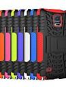dwa w jednym kolorze olśnienie paski zaprojektować i obudowy pc silikonowy z podstawką do Samsung Galaxy Note 4 (różne kolory)