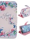 Na Samsung Galaxy Etui Portfel / Etui na karty / Z podpórką / Flip / Wzór Kılıf Futerał Kılıf Kwiat Skóra PU Samsung S4