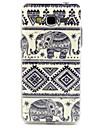 Słoń plemienne linie wzornictwo trwałe TPU pokrywy przypadku Samsung Galaxy i9080 / i9082 wielkie