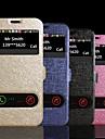 podwójne okna widok jedwab wzór pu skóra klapkę stojak przypadku Samsung Galaxy note4 sm-n9100 (Wybór koloru)