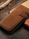 luksusowy portfel skórzany pokrowiec do Galaxy s4 najnowszej okładce do Samsung i9500 stoisk (różne kolory)