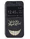 piękny wzór zęby pu otworzyć okno skórzane etui i stanąć do Samsung Galaxy s5mini
