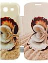 rozgwiazda&Shell cyrkonią inkrustowane odwrócić wzór Folio do Samsung Galaxy S3 i9300