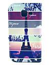 Na Samsung Galaxy Etui Etui na karty / Z podpórką / Flip / Wzór Kılıf Futerał Kılıf Wieża Eiffla Skóra PU Samsung Trend Lite