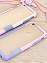 Kılıf Na Jabłko iPhone 6s Plus / iPhone 6s / iPhone 6 Plus Ramka ochronna Solidne kolory Miękka TPU