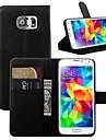 Kılıf Na Samsung Galaxy S7 Edge / S7 / S6 edge Etui na karty / Z podpórką / Flip Pełne etui Solidne kolory Skóra PU