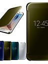 Kılıf Na Samsung Galaxy S6 Z okienkiem / Lustro / Flip Pełne etui Solidne kolory PC / Transparentny