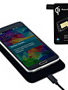 qi standardowa ładowarka bezprzewodowa + tag odbiornik Samsung Galaxy S5 i9600 G900 gorące