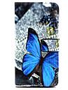 Na Samsung Galaxy Etui Etui Pokrowce Etui na karty Z podpórką Flip Magnetyczne Wzór Futerał Kılıf Motyl Skóra PU na Samsung A3